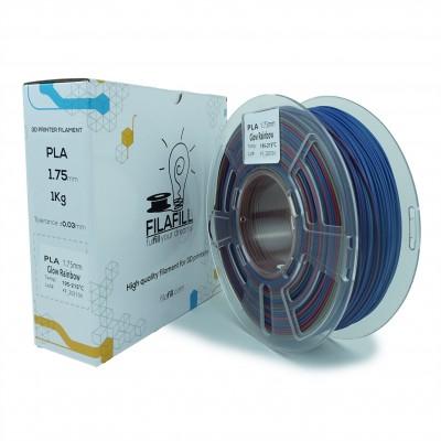 Filament PLA - Premium - Glow Rainbow - 1Kg - 1.75mm