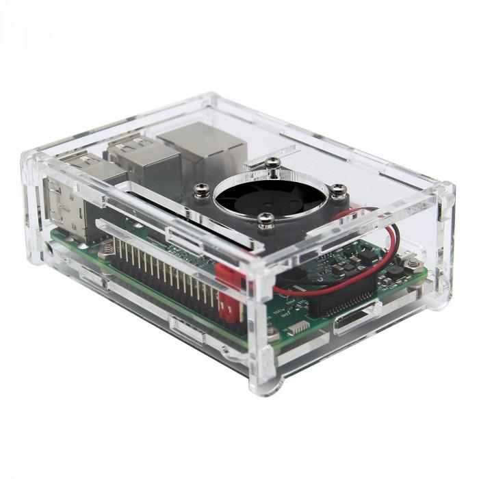 Raspberry Pi 3 case - acryl with fan