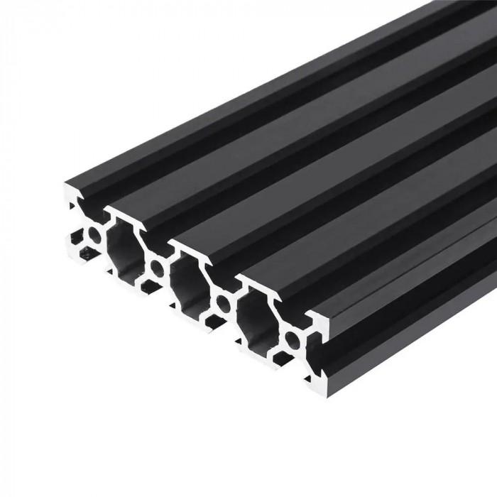 V-SLOT 2080 - Negru 1000mm