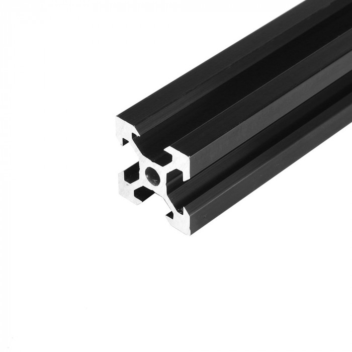 V-SLOT 2020 - Negru 1000mm