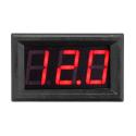 Panel voltmeter - Red - 100V