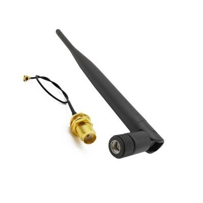 Antena 2.4 Ghz 5 dBi + cablu IPX - RP-SMA