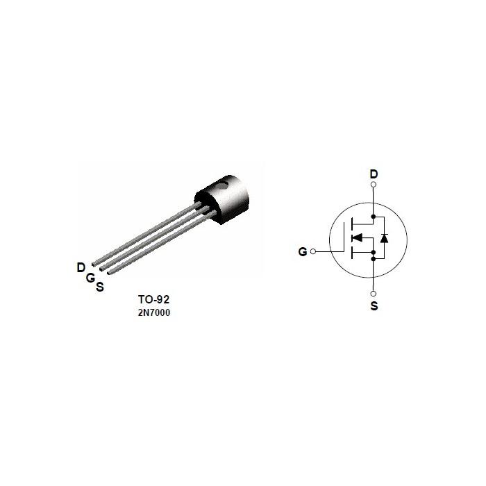 MOS-FET tip N 2N7000