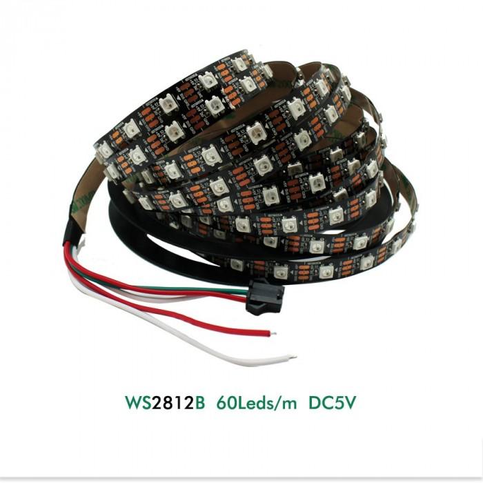 Bandă leduri RGB (Neopixels) WS2812B