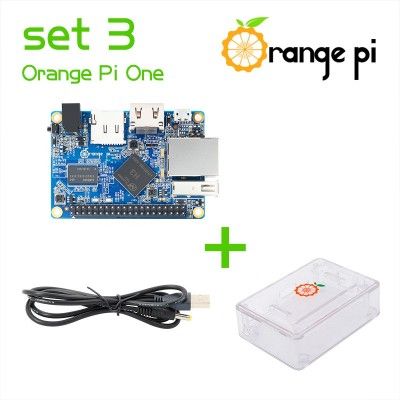 Orange PI One + case + power cable