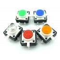 Push button with led